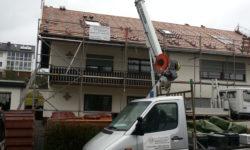 Kranarbeiten - Dachsarnierungen